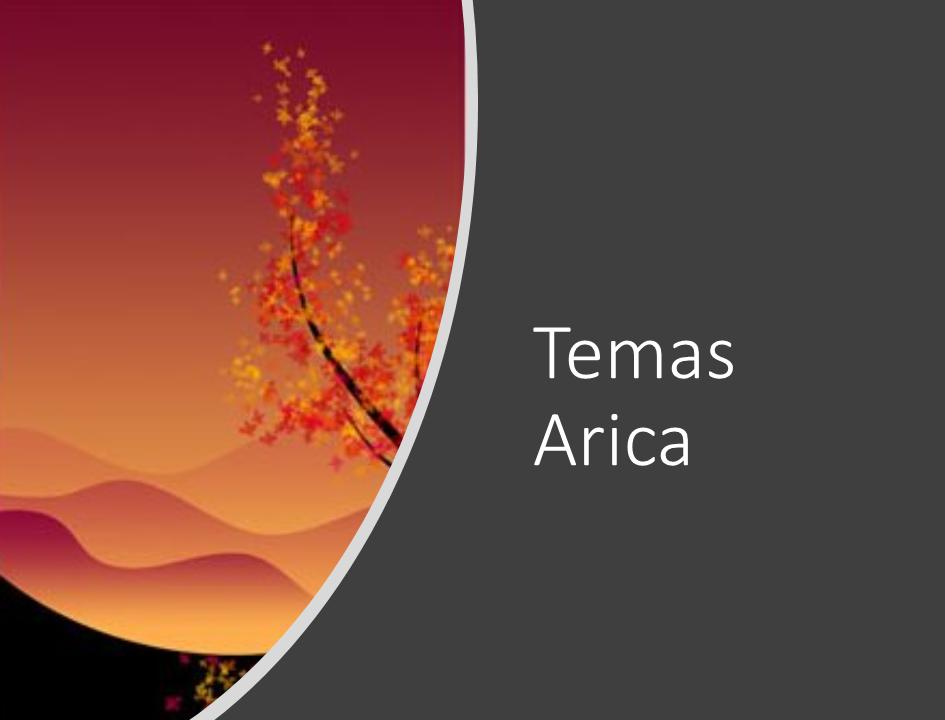 temas de la formación Arica