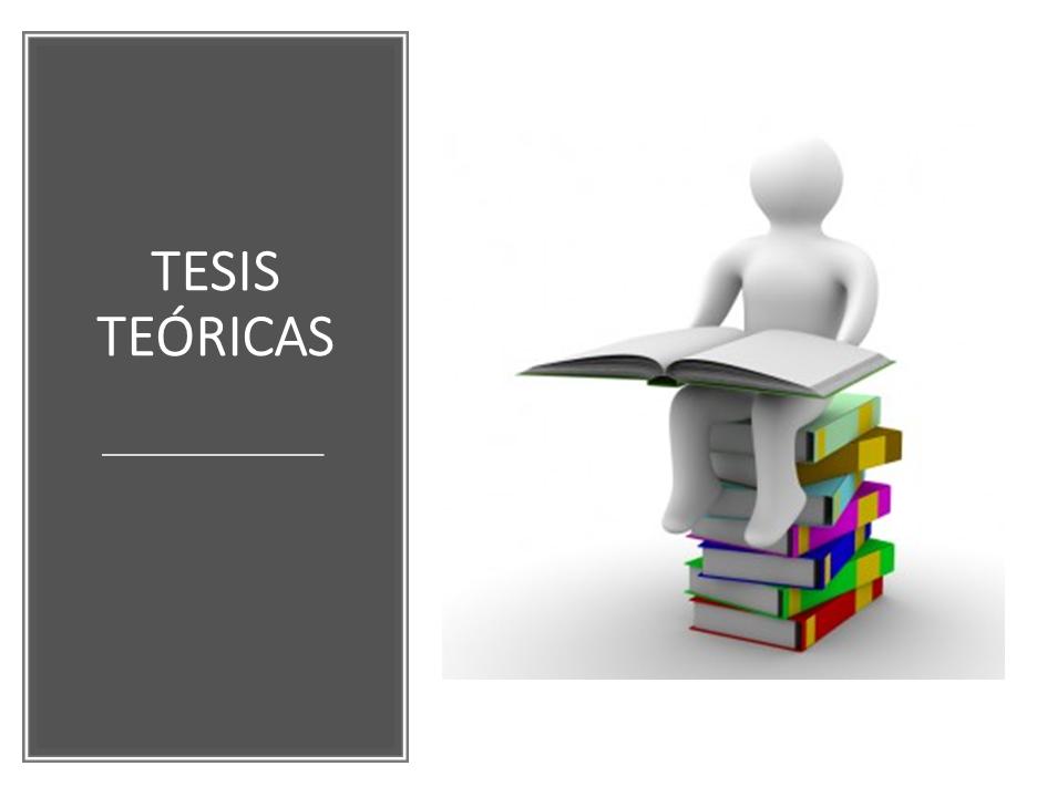 Tesis Teóricas 2019